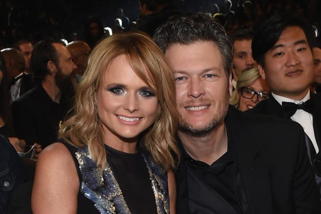 Blake Shelton, Miranda Lambert at the Grammys